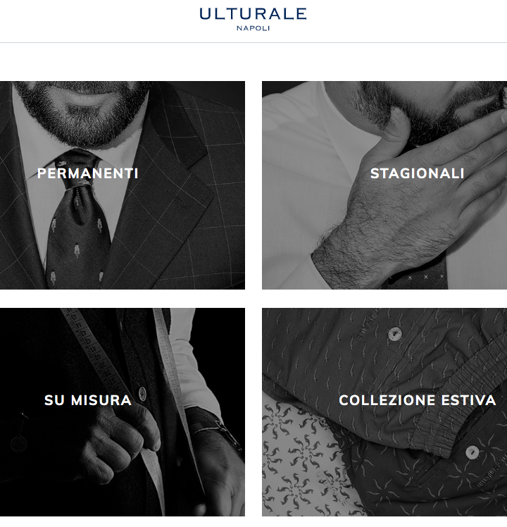 Ulturale lancia la piattaforma di e-commerce.  L'eccellenza sartoriale italiana ora anche sul canale online.
