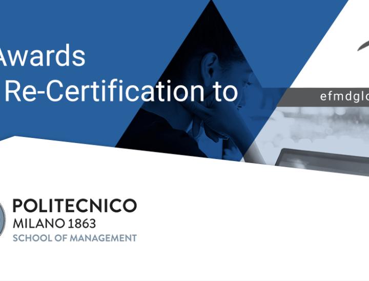 Eccellenze nella formazione digitale: la School of Management del Politecnico di Milano è l'unica italiana a ottenere la certificazione EOCCS per i master Executive MBA.