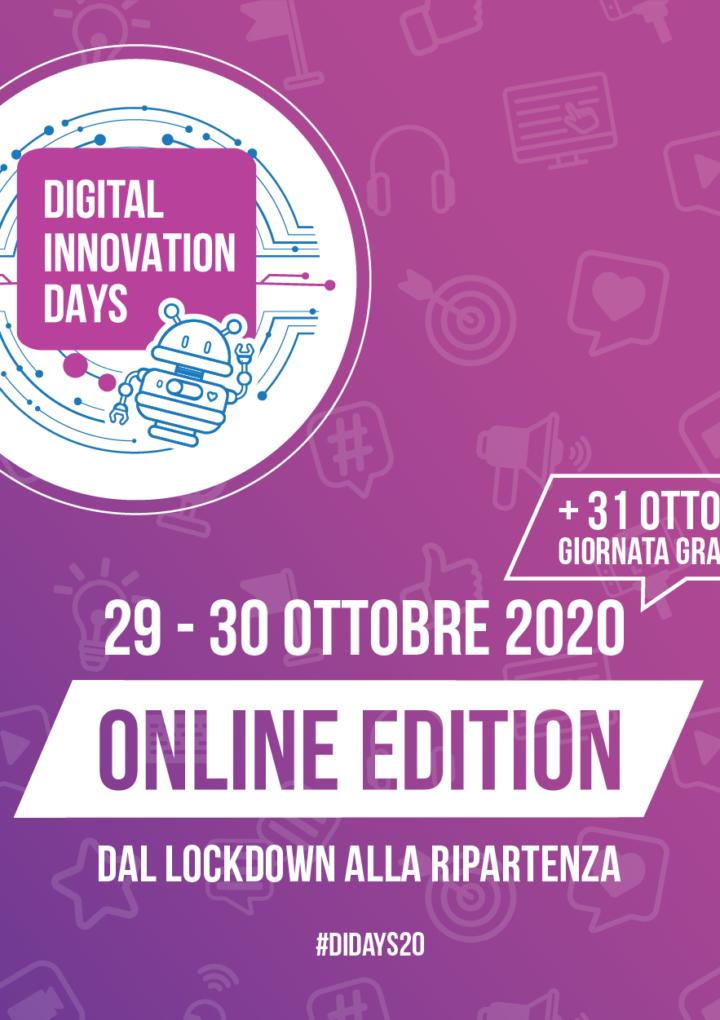 Digital Innovation Days Italy 2020: tante novità per la prima edizione tutta online.  Nuove sale verticali e una giornata interamente gratuita dedicata alle Startup